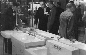 Mark Swenson at trade show in 1964.