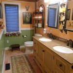 Traditional Rustic Recessed Double Sinks