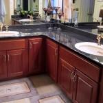 Traditional Cornered Double Sinks