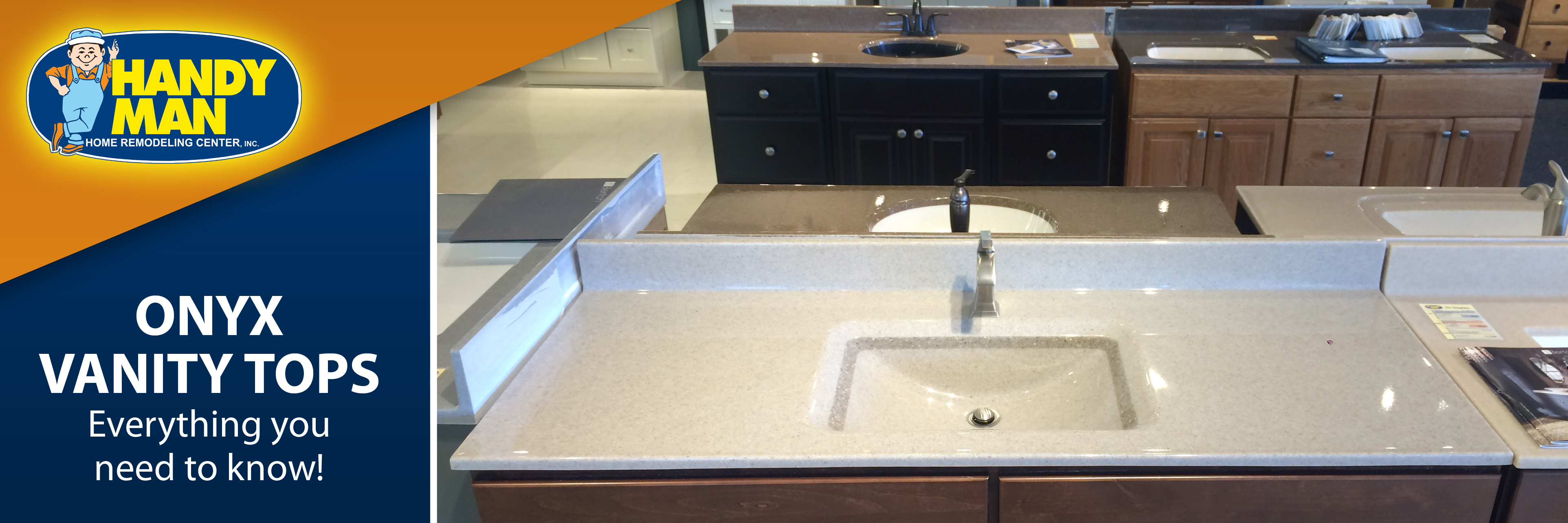 Handy man onyx vanity tops beautiful and functional with a todays onyx vanity tops offer exactly what you are looking for let the experts at handy man show you the most popular colors being used in bathrooms workwithnaturefo