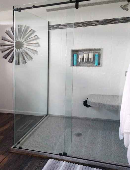 Large onyx shower
