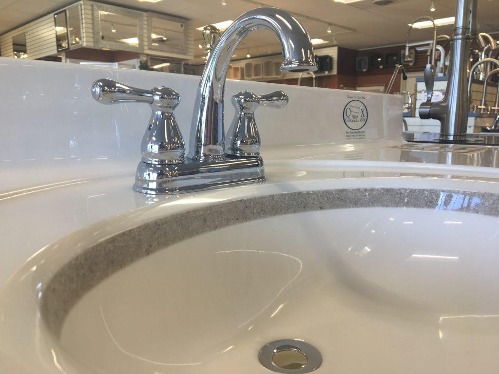 Centerset chrome two handle faucet