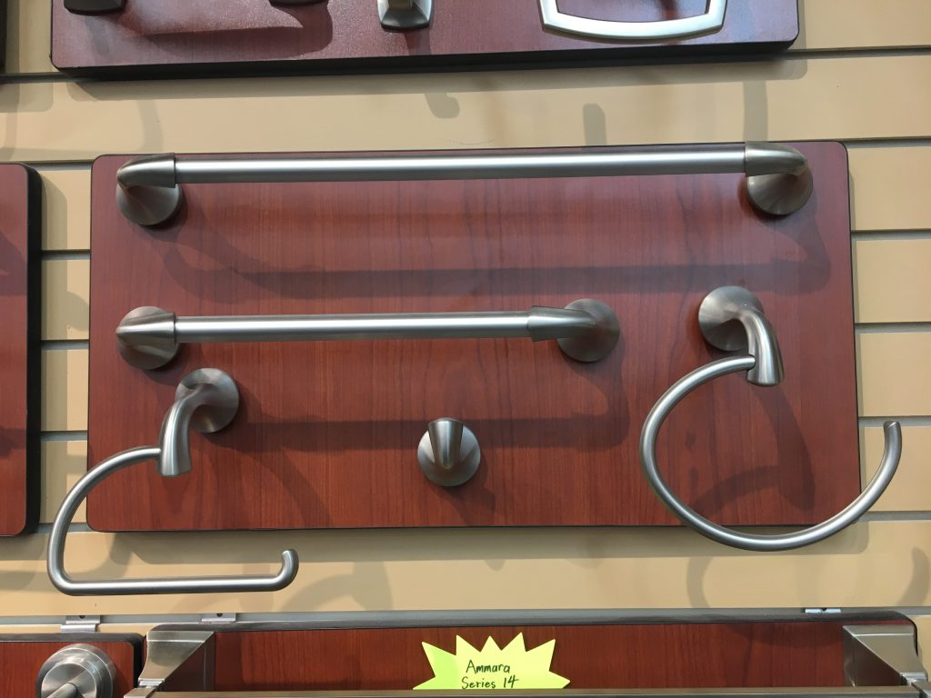 Crosswater towel bars with satin nickel finish 2
