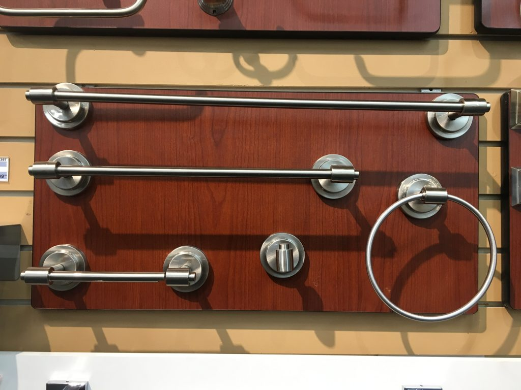 Crosswater towel bars with satin nickel finish 3