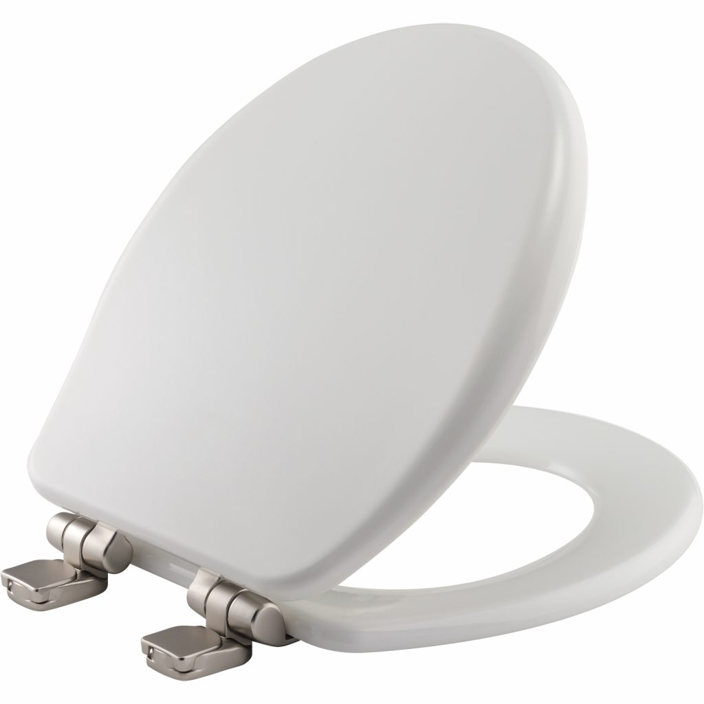 Bemis Brushed Nickel Toilet Seat